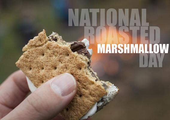S'mores, a treat whose recipe first appeared in the 1927 Girl Scouts Handbook, is a staple of National Roasted Marshmallow Day (Aug. 30). (Think Stock/Getty Images)
