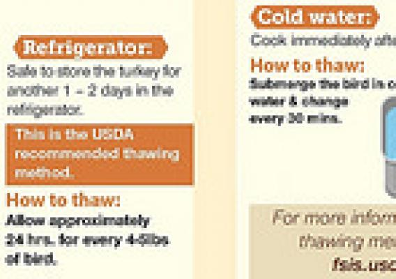 3 ways to thaw: Be food safe this Thanksgiving Holiday.