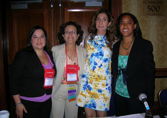 2.(from left to right): Kara Ryan from NCLR, Mary Gomez from Mary's Center, Lisa Pino from FNS, and Jennifer Ng'andu from NCLR, who spoke on a panel session about decreasing hunger and improving nutrition in the Latino community on July 24 at the NCLR annual conference.