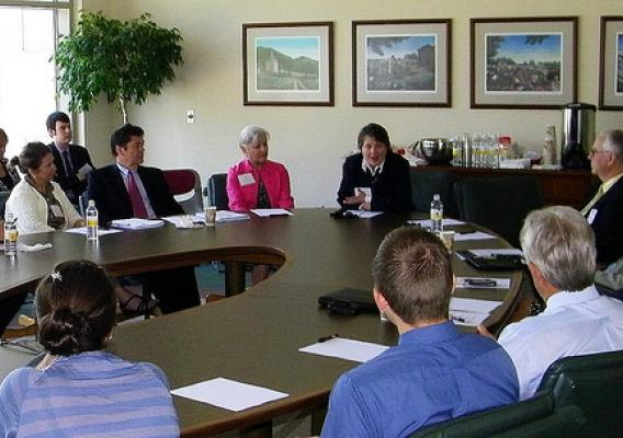 Agriculture Deputy Kathleen Merrigan meets with local Virginia business leaders to discuss growth and job creation in Richmond, VA, on Monday, July 22, 2011.