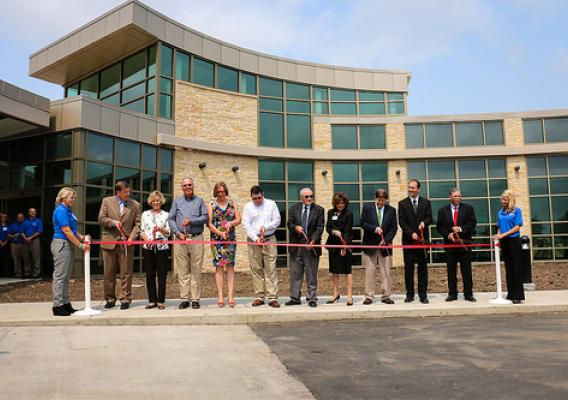 RD State Director Patty Clark participating in the ribbon-cutting ceremony