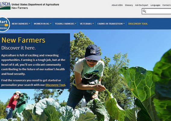 USDA New Farmers website screenshot