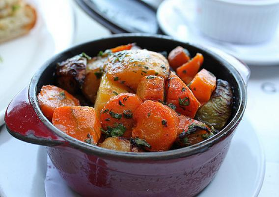 A root vegetable stew. Preparing a colorful dish like this is the perfect way to celebrate root vegetable month. (Photo courtesy of Marylin Acosta)