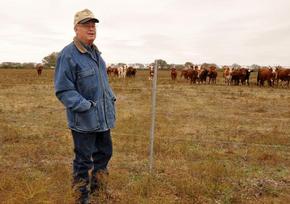 Ford knows the importance of protecting the natural resources on his land through conservation, so he is able to continue ranching and is able to pass the land onto future generations. Cross fencing and pasture rotation are some of the tools Ford uses to help keep his land healthy.