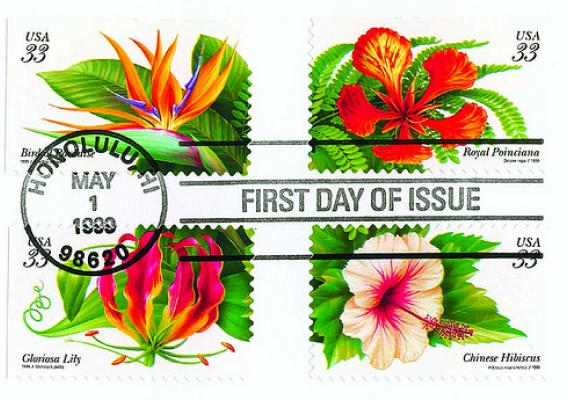 A set of self-adhesive Forever Stamps (Steve Schmieding/U.S. Forest Service)