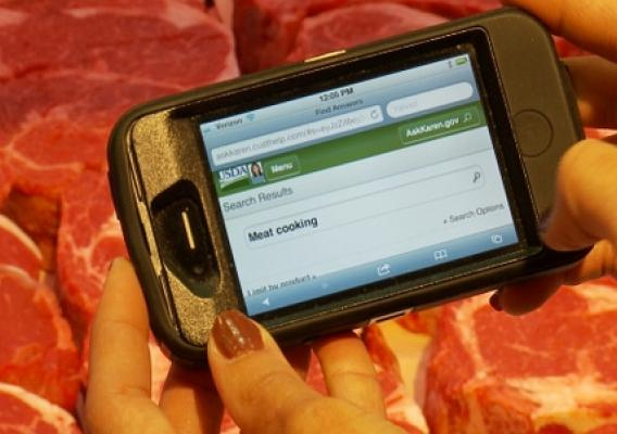 Mobile Ask Karen makes food safety tips available whenever and wherever you need them. Look up information about safely preparing tonight's dinner while making purchases at the meat counter.