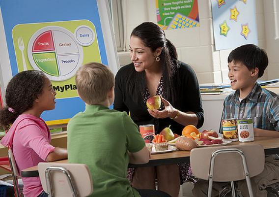 MyPlate is the perfect teaching tool for nutrition education! Discover classroom materials at ChooseMyPlate.gov and from Team Nutrition.