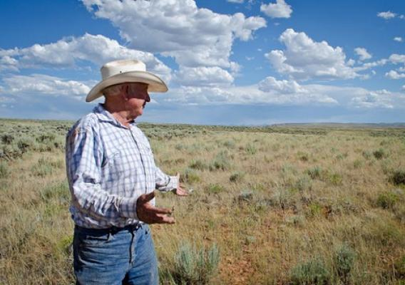 Utah rancher Bill Kennedy worked with NRCS through SGI to improve his working rangelands for sage grouse and livestock. Photo by Jesse Bussard.