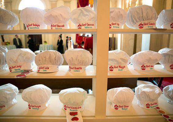 Chef hats for each of the winners at the 2016 Kids' State Dinner