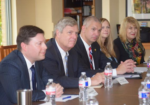 Secretary Vilsack and RUS Administrator McBride announcing an Energy Efficiency and Conservation Loan Program award