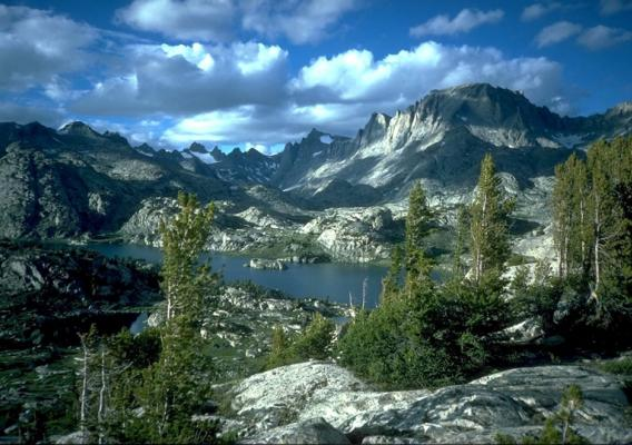 Island Lake landscape in Wyoming's Wind River mountains on the Bridger-Teton National Forest. Photo by Scott Clemons.