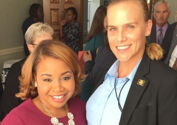 Sandra Reynolds with Ashlee Johnson, former Chief of Staff to the Deputy Secretary