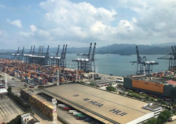 The Yantian International Container Terminal, Shenzhen, China