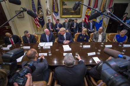 Trump Round Table.Perdue Joins White House Farmers Roundtable As President Trump