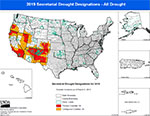 Secretarial Drought Designations All Drought image