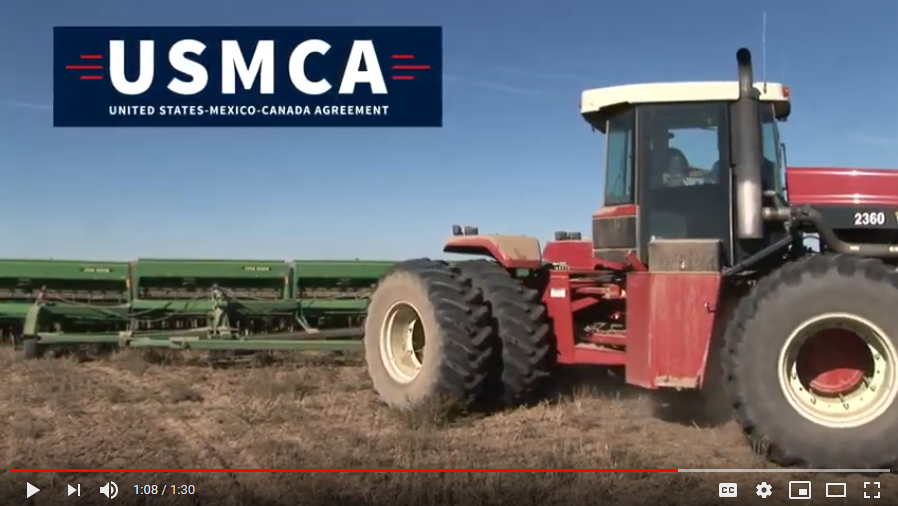 A screenshot of the USMCA video